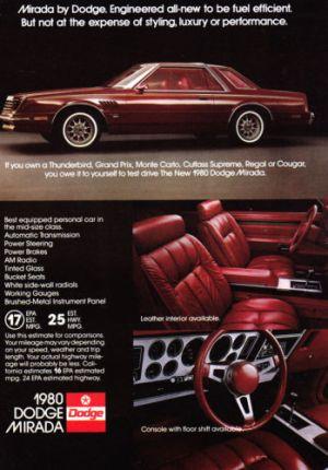 1980 dodge mirada ad