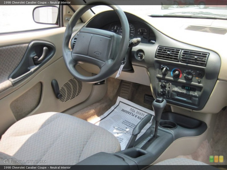 1998 Chevrolet Cavalier 1 - The Interiors Were Modern And Contemporary Looking Similar To The Camaro As Well There Was A Real Center Console And Like The Caprice - 1998 Chevrolet Cavalier 1