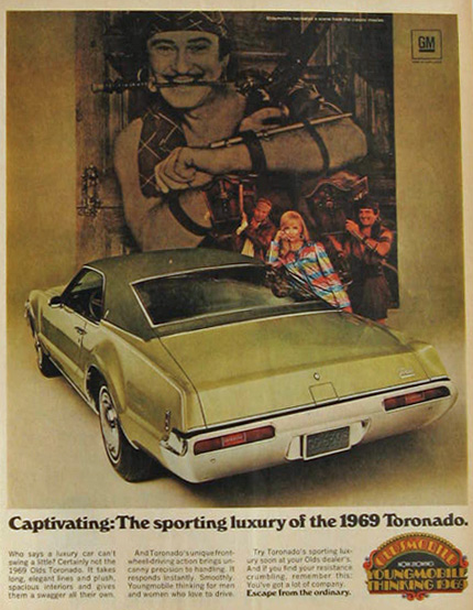 Olds toronado 1969 captivate
