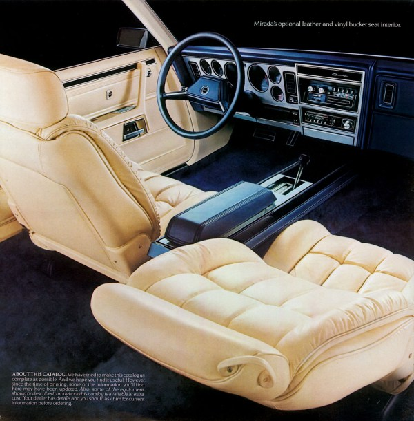 dodge mirada brochure interior