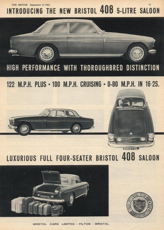 Bristol 408 advert