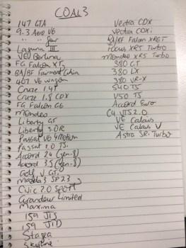 COAL3 list