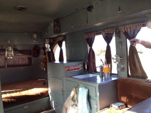 Packard 1937 RV inside