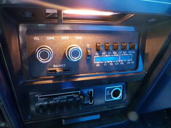 Dodge 1979 St Regis radio