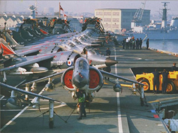 HMS Hermes Leaves For The Falklands War