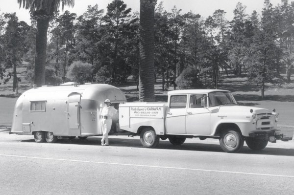airstream wally-byam-next-to-his-international-harvester-a-120