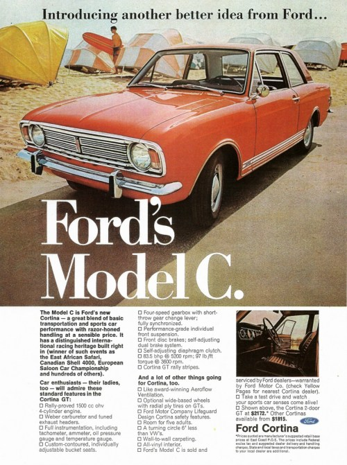 Ford Cortina ad