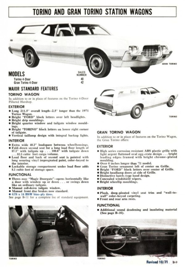 1972 Ford Full Line Sales Data-B09
