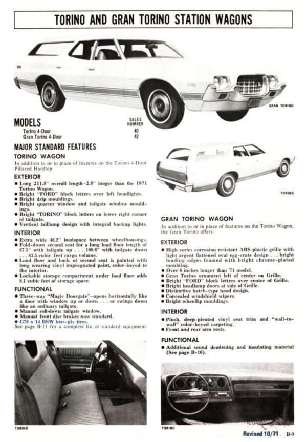 1972 Ford Full Line Sales Data-B09