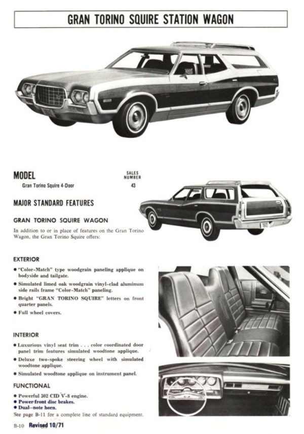 1972 Ford Full Line Sales Data-B10