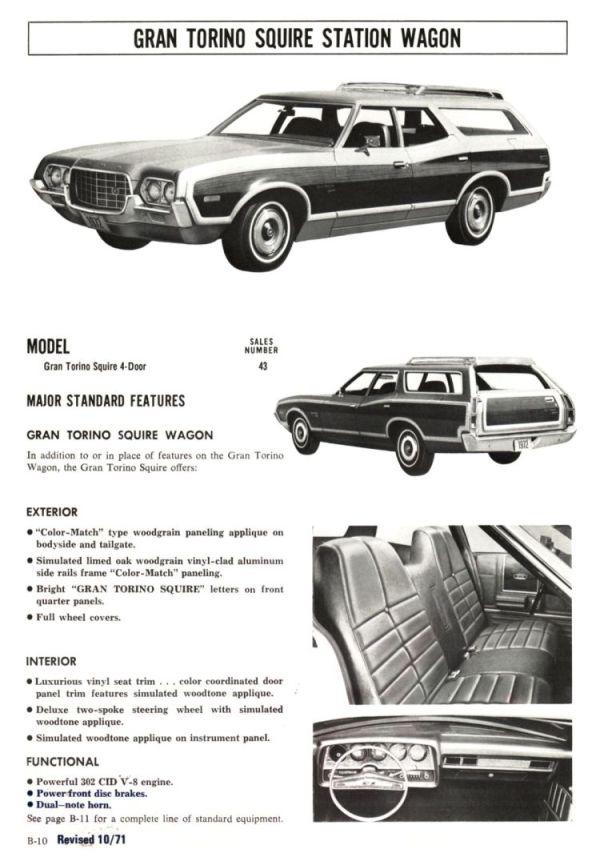 1972 Ford Full Line Sales Data-B10