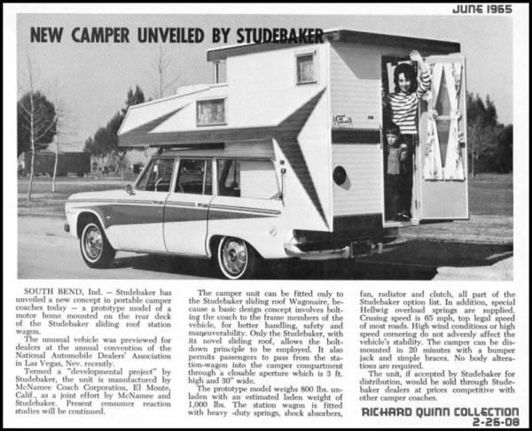 Studebaker camperwagonaire65