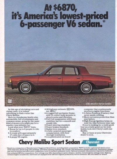 Curbside Classic: 1981 Chevrolet Malibu Classic – A