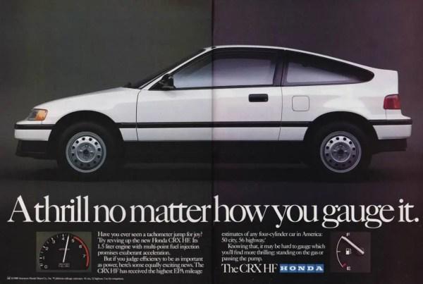08 1989 CRX HF ad R&T 4-89