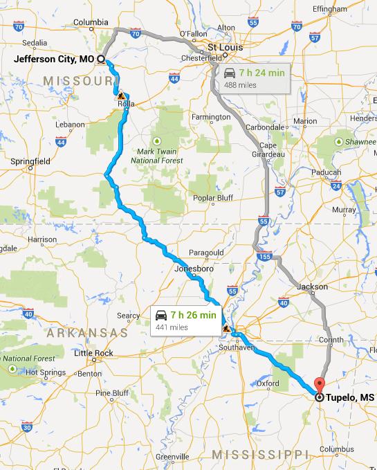 JC to Tupelo