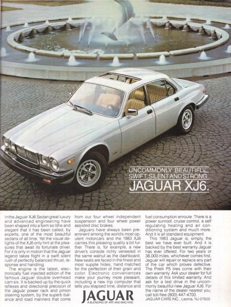 1983 XJ6 ad R 1083