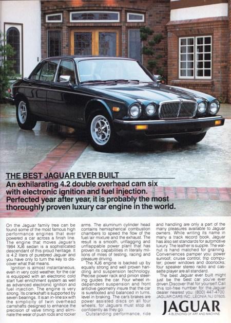 1984 XJ6 Ad R 0684