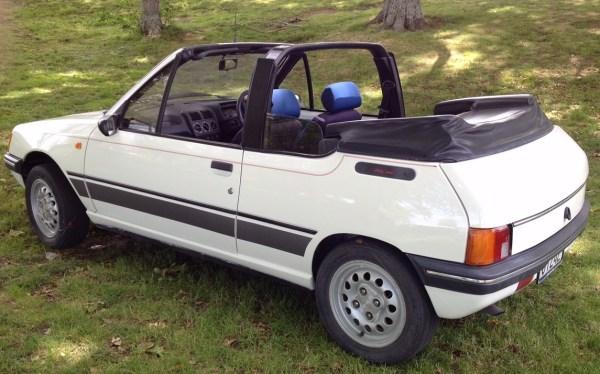 1989 Peugeot 205 CL convertible, white bl