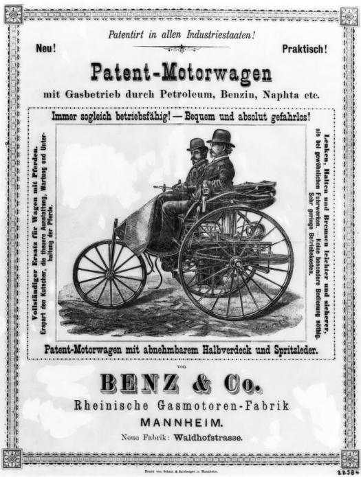Benz 1896 ad