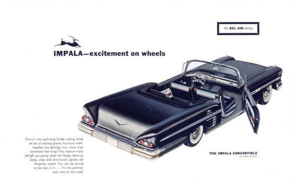 Chevrolet 1958 Impala conv broch