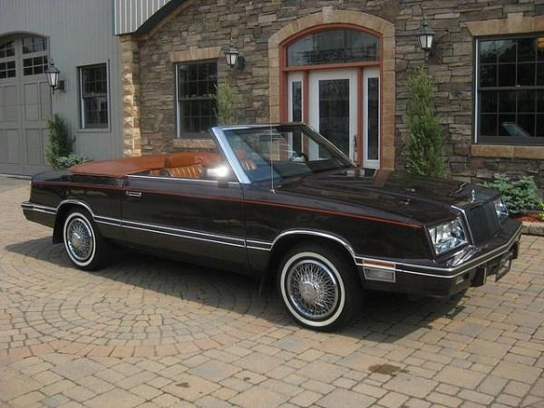 Chrysler 1982 lebaron conv