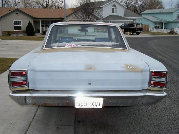 Dodge 1968 Dart rear view