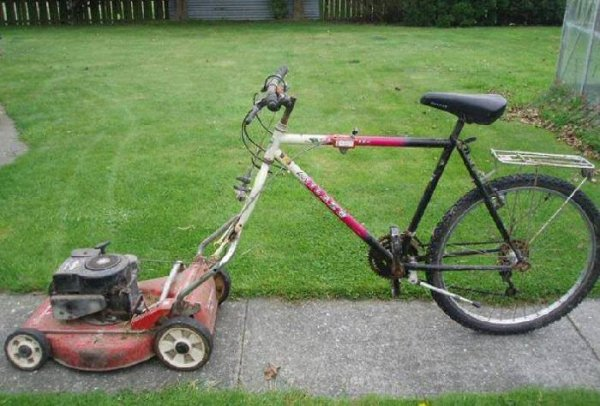 backyard lawnmower