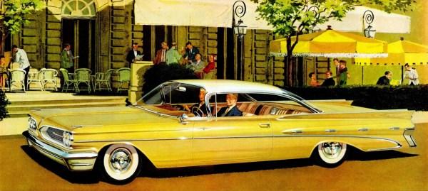 FK 1959 pontiac yellow