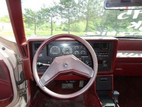 chrysler lebaron gts interior