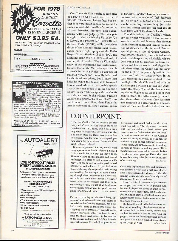 Cadillac 1978 CD test 3