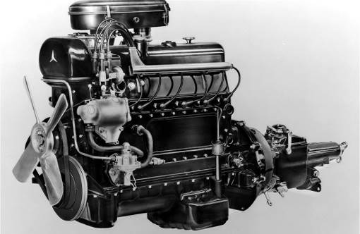 Mercedes 300 M186 engine