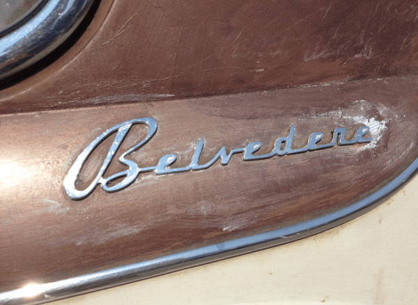Plymouth 1952 Cranbrook belevedere coupe badge