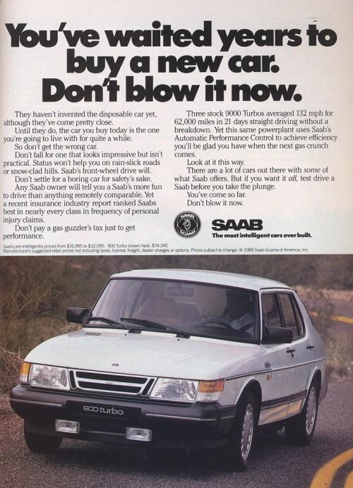 Saab 900 1988 ad