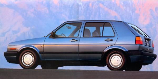 VW golf 1990 ad