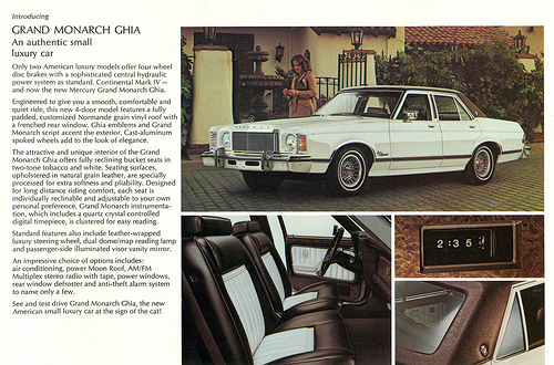 1975 mercury grand monarch ghia