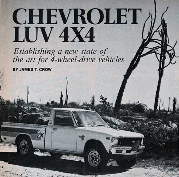 Vintage Review Chevrolet Luv 4x4
