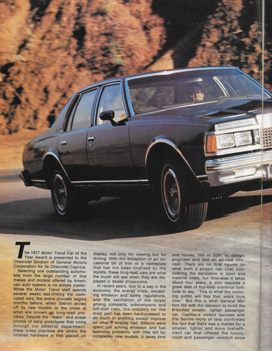 Vintage Review: 1977 Chevrolet Caprice – Motor Trend Car Of