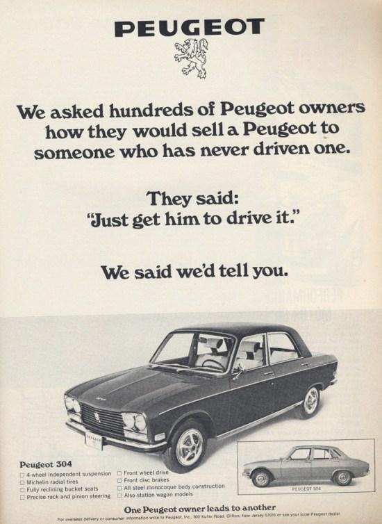 Peugeot 304 ad _bw_1972