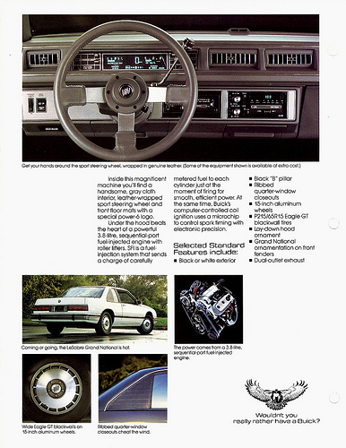buick lesabre grand national brochure