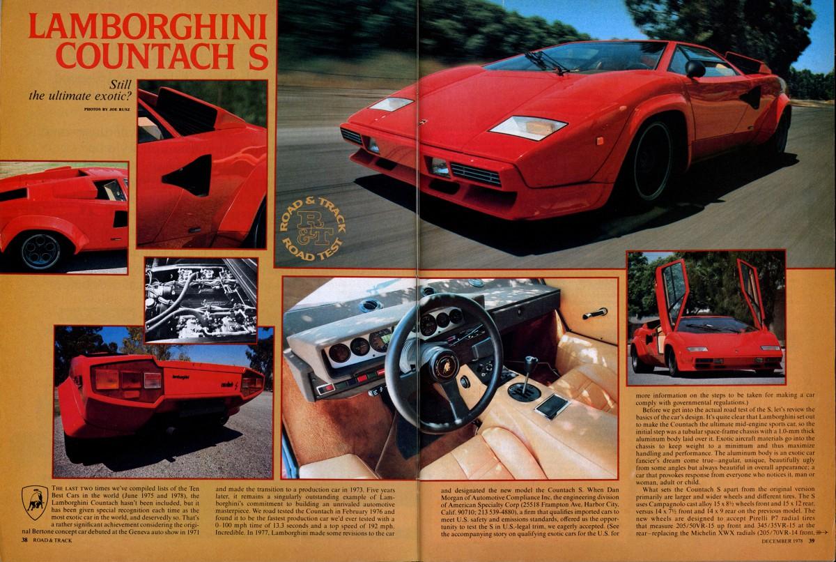 Vintage Review Lamborghini Countach S - Best car museums in us
