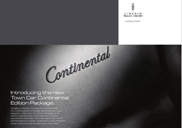 lincoln town car continental edition