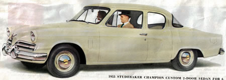 studebaker 1953 two door sedan