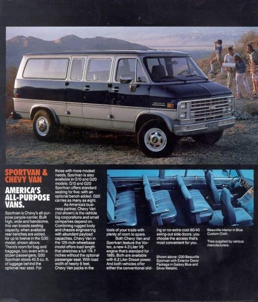 1985 Chevy Van Ad