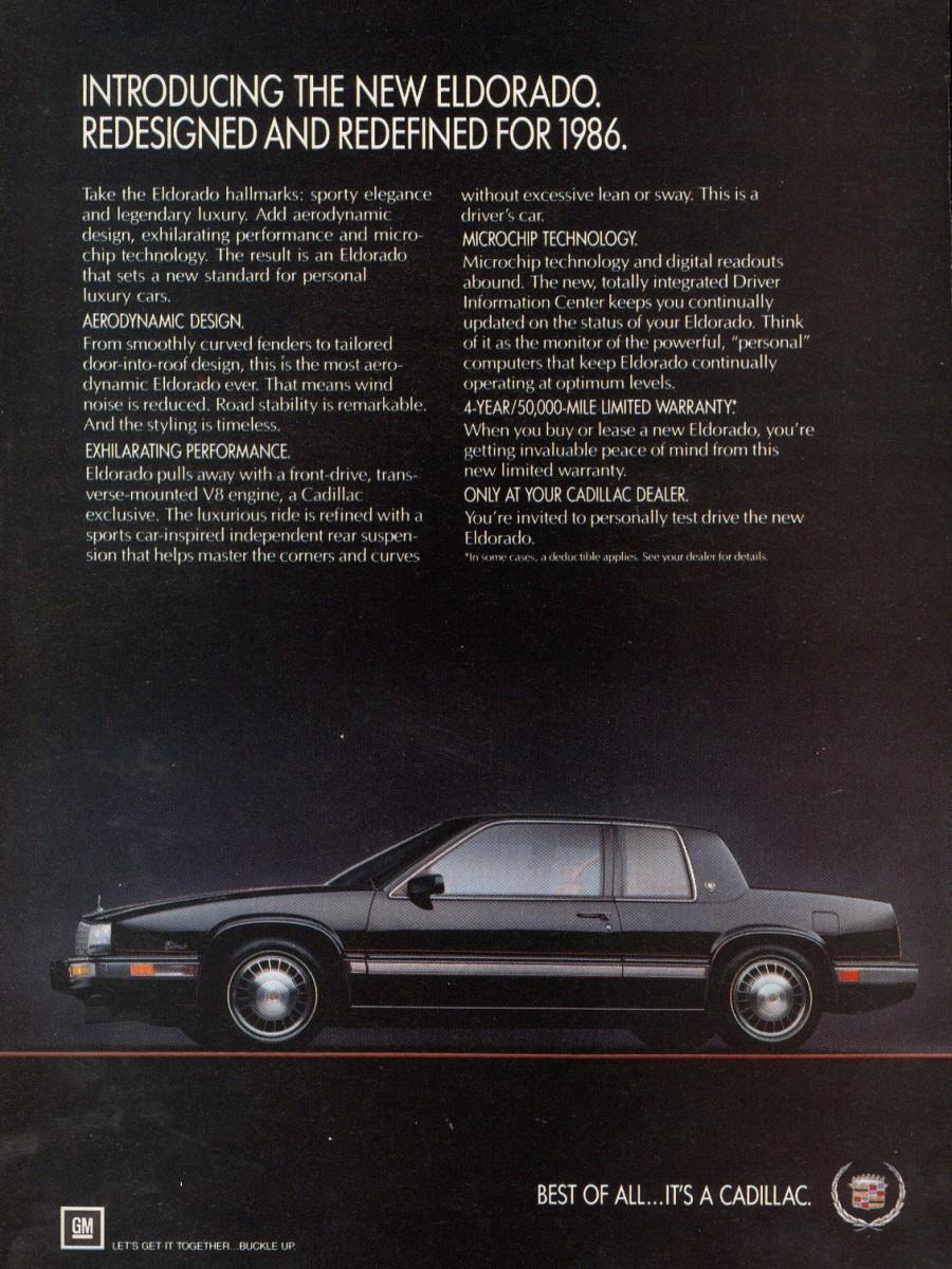 Cadillac Eldorado Ad on Ht 4100 V8
