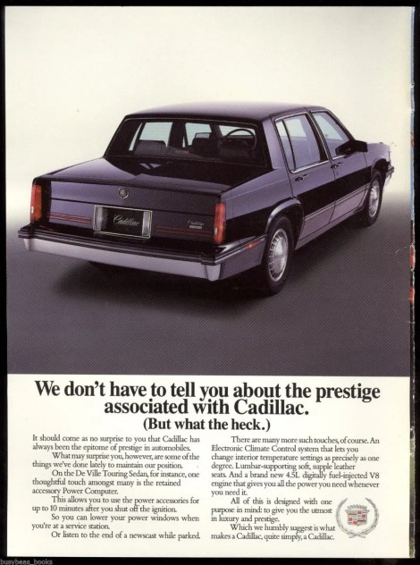 1988 cadillac deville touring sedan ad