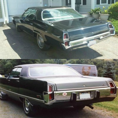 1972 Oldsmobile Delta 88 & 1973 Chrysler Newport collage