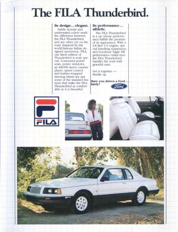 1984 ford thunderbird fila 1