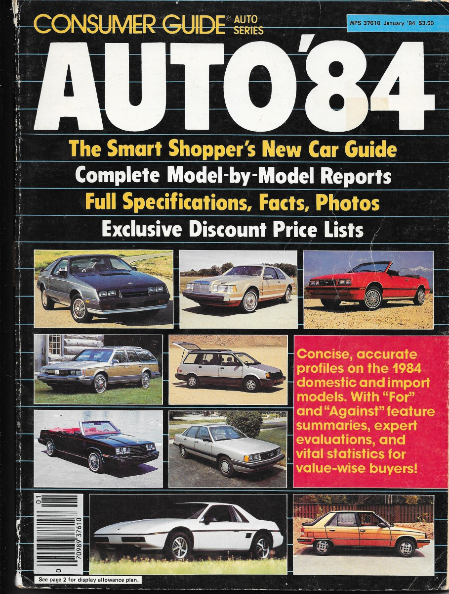 vintage review 1984 compact sedans consumer guide auto series rh curbsideclassic com Consumer Reports Cars Consumer Guide for Automobiles