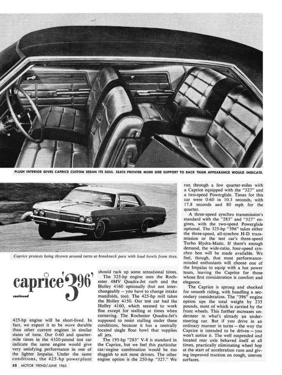 Chevrolet 1965 Caprice MT 5