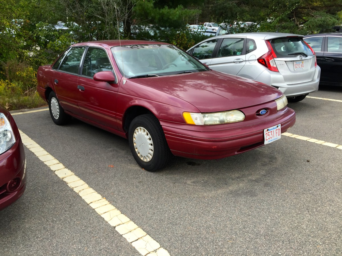 Curbside classic 1993 ford taurus gl from americas sweetheart to hertzs a list star